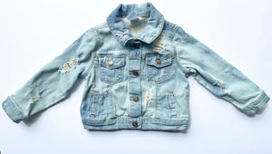 Destroyed Denim Jacket- Unisex