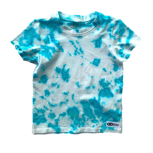 Baby/kids Aqua Tie-dyed single colored t-shirt