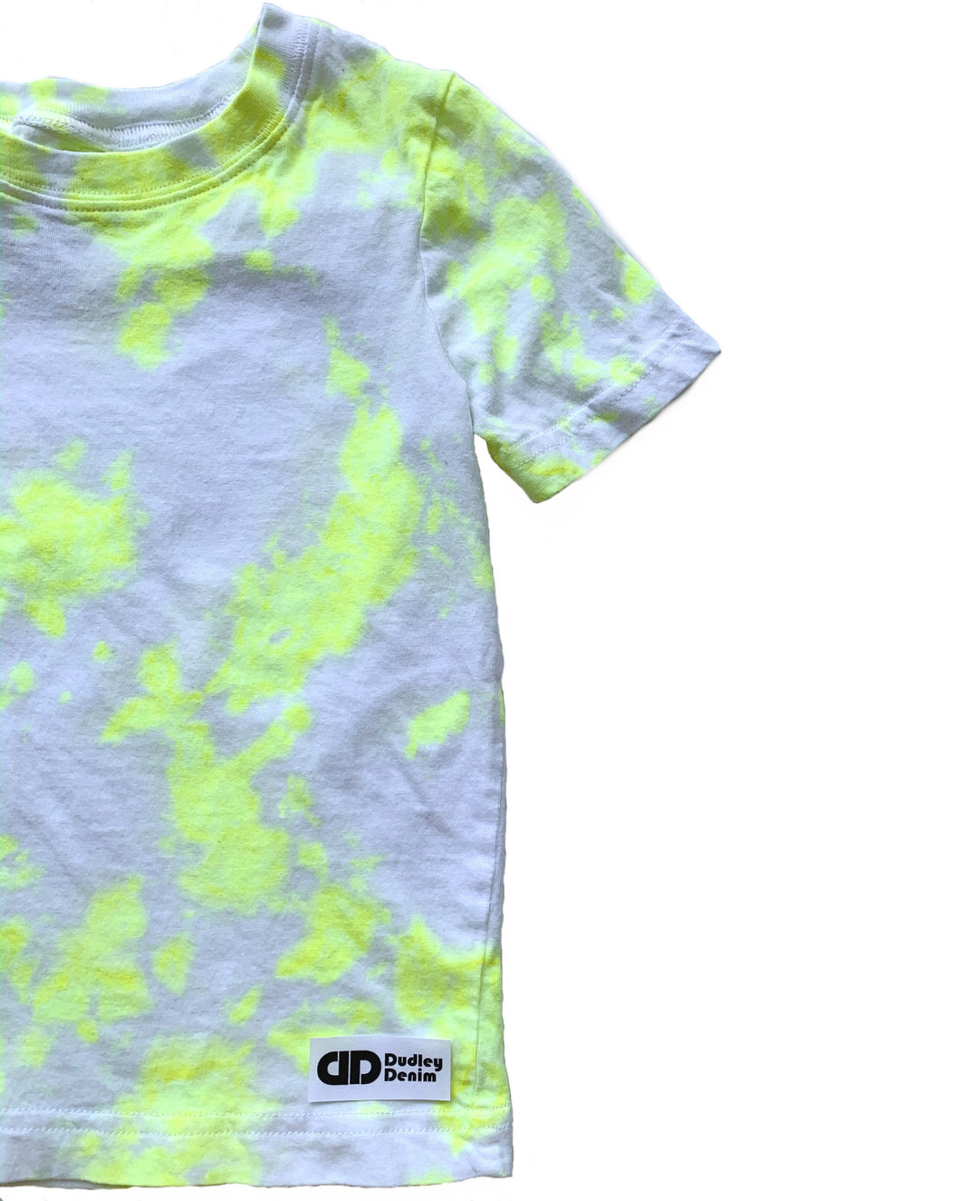 Baby/kids Neon Yellow Tie-dyed single colored t-shirt