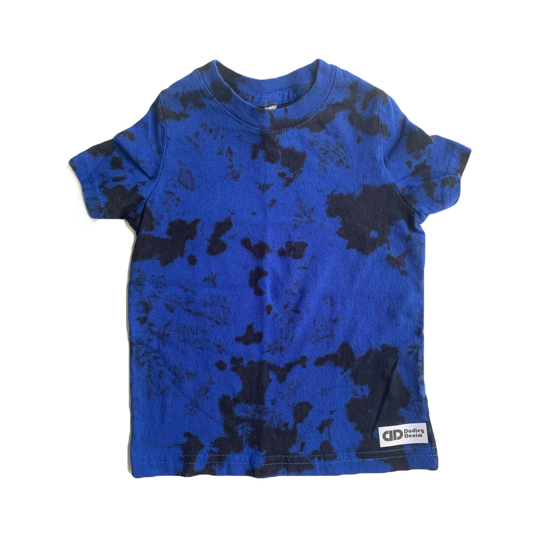 Black Tie-dyed t-shirt- blue