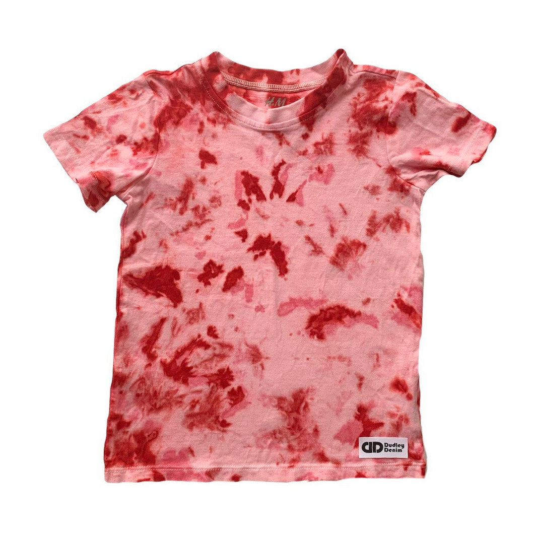 Tie-dyed pink and red t-shirt- adult