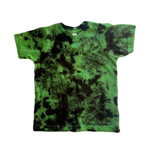 Black Tie-dyed t-shirt- Shamrock