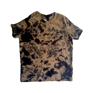 Black Tie-dyed t-shirt- Teddy