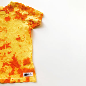 Tie-dyed t-shirt- Sunshine