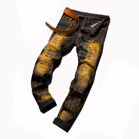 RUGGED BIKER CARGO/PENCIL JEANS - Shop-Stylish-Guy