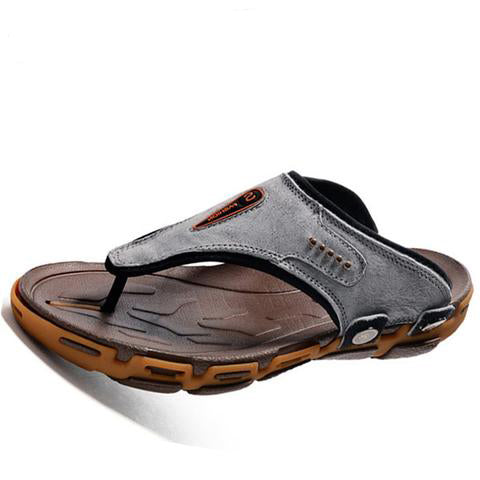 Elegant Breathable Leather Slippers - Shop-Stylish-Guy