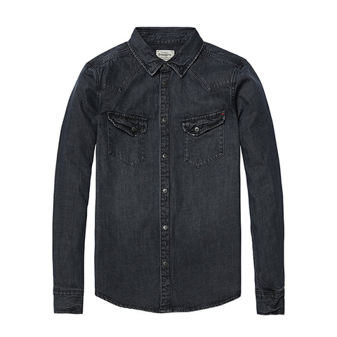 Denim Style Jeans Fit Shirt - Shop-Stylish-Guy