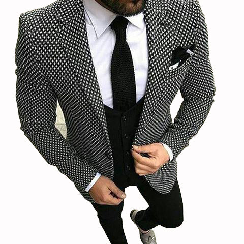 Black&White Slim Fit Suit - Shop-Stylish-Guy