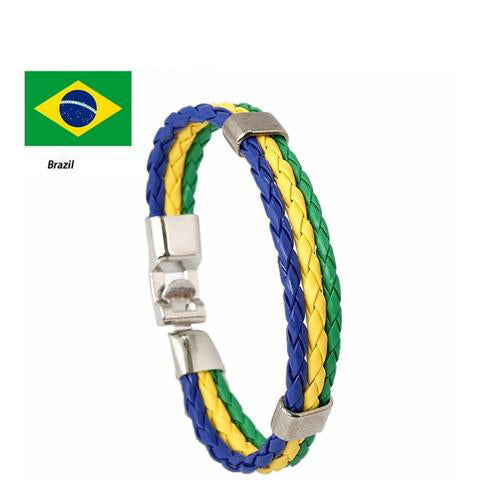 World Cup Football Leather Bracelets