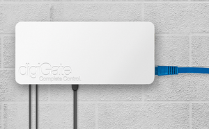 digiGate Garage system Installed on wall with Ethernet cable