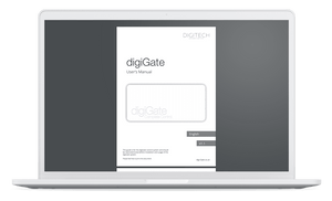 digiGate instruction manual on computer