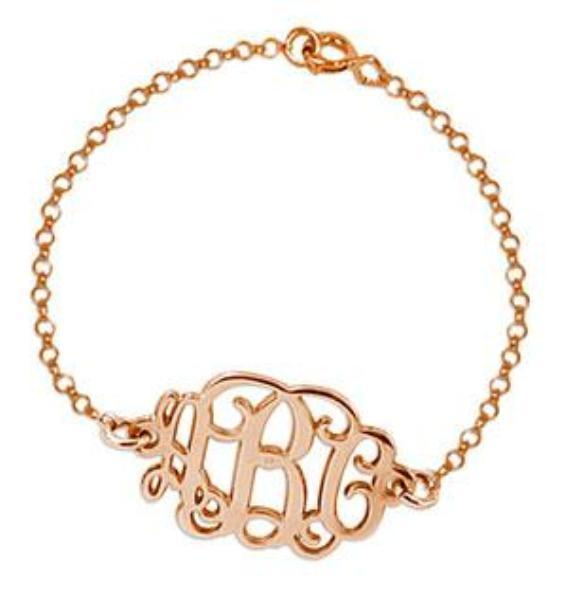 Heirloom Hourglass Bracelet Rose Gold Monogram Bracelet