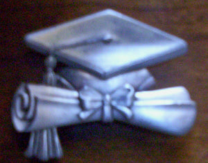 Heirloom Hourglass custom charms Heirloom Hourglass Custom Graduation Cap Charm Closure