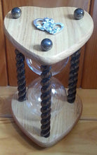Heart Shaped Wedding Unity Sand Ceremony Hourglass in Dark Oak or other options