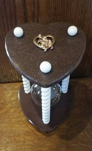 Heirloom Hourglass Heart Shaped Hourglass Sand Ceremony Hourglass in Garnet - Heart Shaped Unity Hourglass by Heirloom Hourglass - Makers of The Original Wedding Hourglass