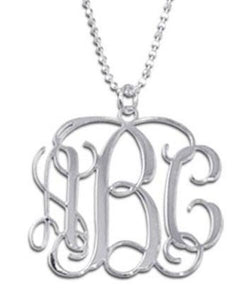 Heirloom Hourglass Necklace Sterling Silver Monogram Necklace