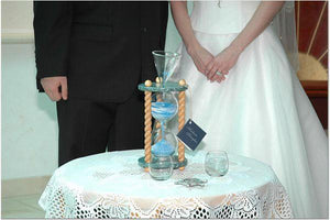Heirloom Hourglass unity sand ceremony accessory Wedding Hourglass Standard Unity Sand Ceremony Glass Accessories Package - Hourglass Not Included - Sold Separately