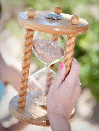Heirloom Hourglass Unity Sand Ceremony Hourglass The Acorn Wedding Unity Sand Ceremony Hourglass in Clear Oak by Heirloom Hourglass