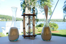 Heirloom Hourglass Unity Sand Ceremony Hourglass The Adirondack Wedding White Birch and Walnut Unity Sand Ceremony Hourglass by Heirloom Hourglass