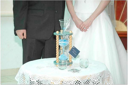 Heirloom Hourglass Unity Sand Ceremony Hourglass The Aquarius Wedding Unity Sand Ceremony Hourglass by Heirloom Hourglass