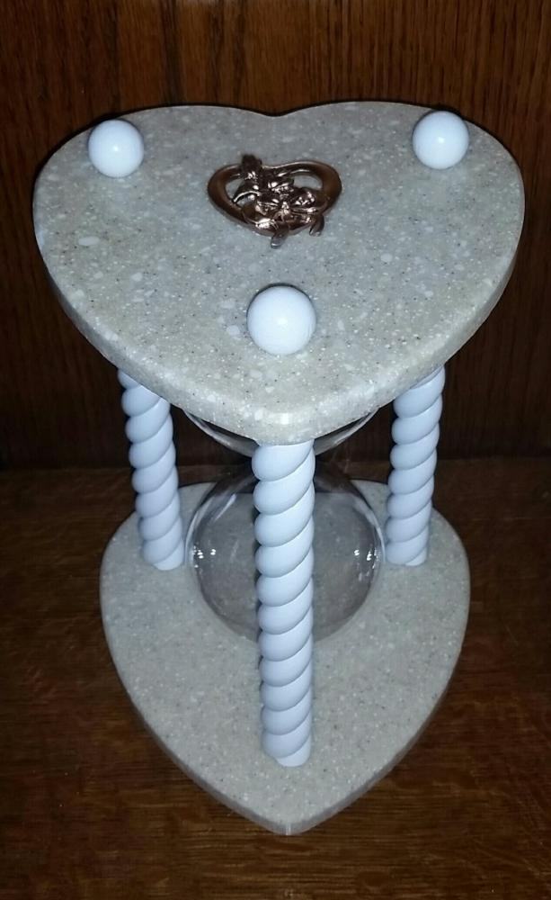 Heirloom Hourglass Unity Sand Ceremony Hourglass The Beach Sand Heart Shaped Unity Sand Ceremony Hourglass by Heirloom Hourglass - Makers of The Original Wedding Hourglass