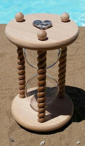 Heirloom Hourglass Unity Sand Ceremony Hourglass The Beach Wedding Unity Sand Ceremony Hourglass in Natural Oak