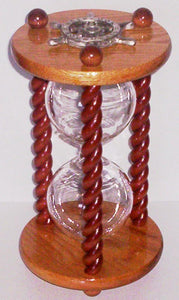 Heirloom Hourglass Unity Sand Ceremony Hourglass The Cabernet Unity Sand Ceremony Hourglass by Heirloom Hourglass - Oak and Mahogany