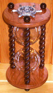 Heirloom Hourglass Unity Sand Ceremony Hourglass The Campfire Unity Sand Ceremony Hourglass by Heirloom Hourglass - Cherry and Walnut