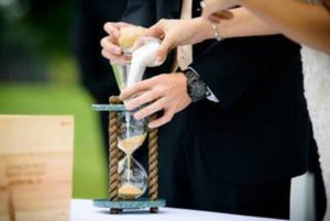 Heirloom Hourglass Unity Sand Ceremony Hourglass The Caribbean Wedding Unity Sand Ceremony Hourglass by Heirloom Hourglass