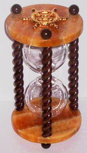 Heirloom Hourglass Unity Sand Ceremony Hourglass The Embers Unity Sand Ceremony Hourglass by Heirloom Hourglass - Orange Calcite and Walnut