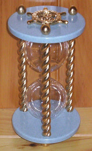 Heirloom Hourglass Unity Sand Ceremony Hourglass The King Hourglass by Heirloom Hourglass - Blue and Gold
