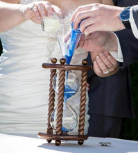 Heirloom Hourglass Unity Sand Ceremony Hourglass The Legacy Walnut Wedding Unity Sand Ceremony Hourglass by Heirloom Hourglass