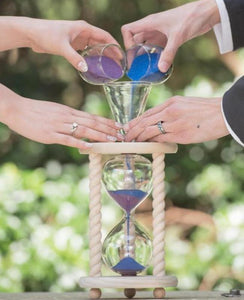 Heirloom Hourglass Unity Sand Ceremony Hourglass The Natural Unity Sand Ceremony Hourglass in Poplar, Oak, Cherry, Walnut, Maple, Cedar, or Pine