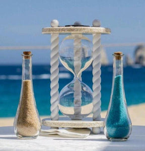 Heirloom Hourglass Unity Sand Ceremony Hourglass The Paradise Wedding Unity Sand Ceremony Hourglass by Heirloom Hourglass