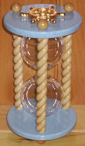 Heirloom Hourglass Unity Sand Ceremony Hourglass The Prince Hourglass by Heirloom Hourglass - Aqua and White