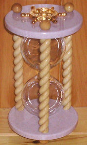 Heirloom Hourglass Unity Sand Ceremony Hourglass The Princess Hourglass by Heirloom Hourglass - Blush Rose and White