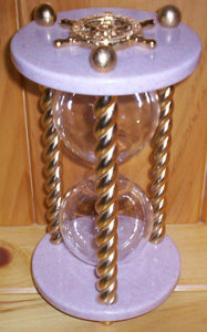 Heirloom Hourglass Unity Sand Ceremony Hourglass The Queen Hourglass by Heirloom Hourglass - Blush Rose and Gold