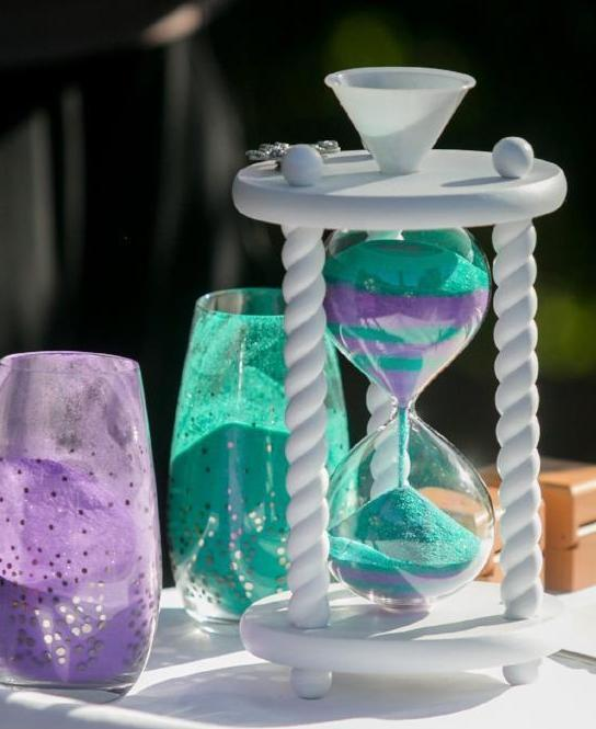 The Seashell Wedding Hourglass Unity Sand Ceremony Hourglass in White by  Heirloom Hourglass