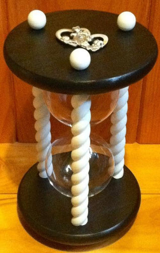 Heirloom Hourglass Unity Sand Ceremony Hourglass The Wedding Day in Black and White Unity Sand Ceremony Hourglass