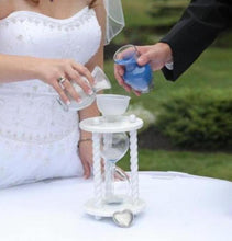 Heirloom Hourglass Unity Sand Ceremony Hourglass The White Wedding Unity Sand Ceremony Hourglass by Heirloom Hourglass