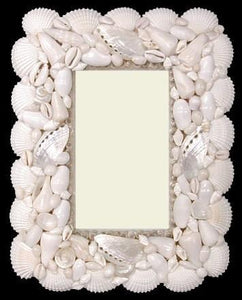 Heirloom Hourglass wedding accessories White Seashell Picture Frame