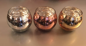 Shiny Glass Wedding Sand Ceremony Pourers in Gold, Rose Gold, or Silver
