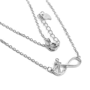 Infinity Anchor Necklace in Silver