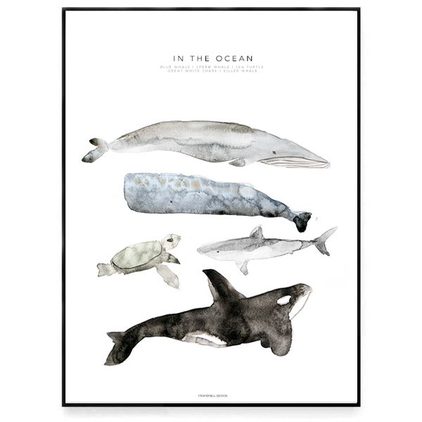 "Fashionell - Poster ""In the Ocean"""