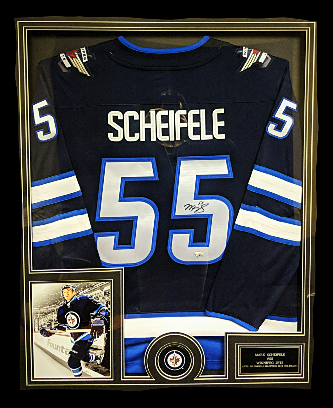 brand new 01780 085d5 Framed Mark Scheifele Autographed Jersey with 8x10 photo, puck &  personalized plaque