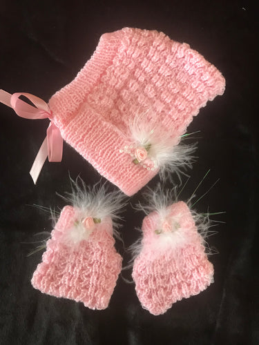 4 Piece Baby Knit Set