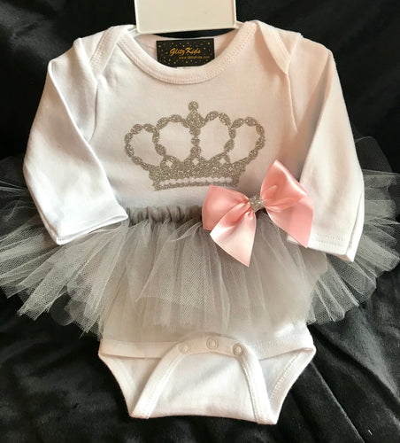 Princess Couture Silver Crown Tutu Outfit