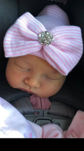 Hospital Hat with Bow & Bling