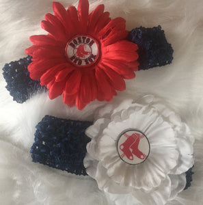Red Sox Large Flower Headbands