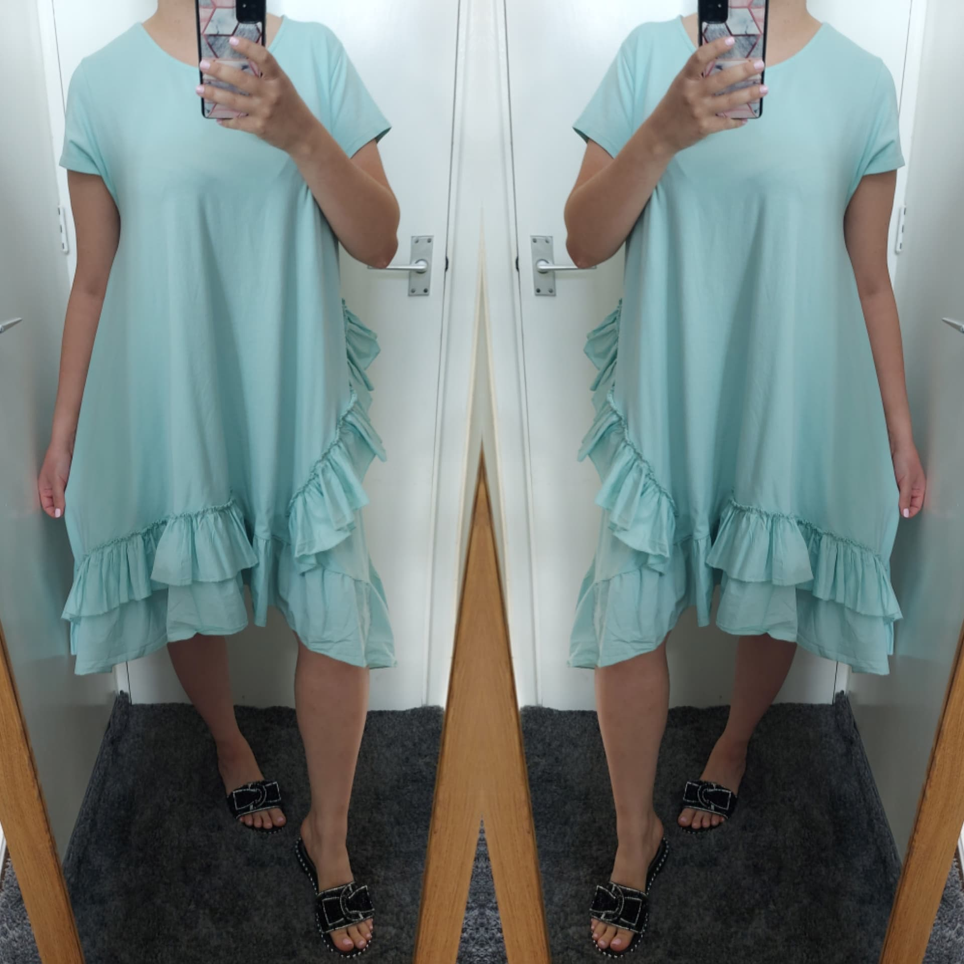 CURVE Aries Frill Dress - Mint